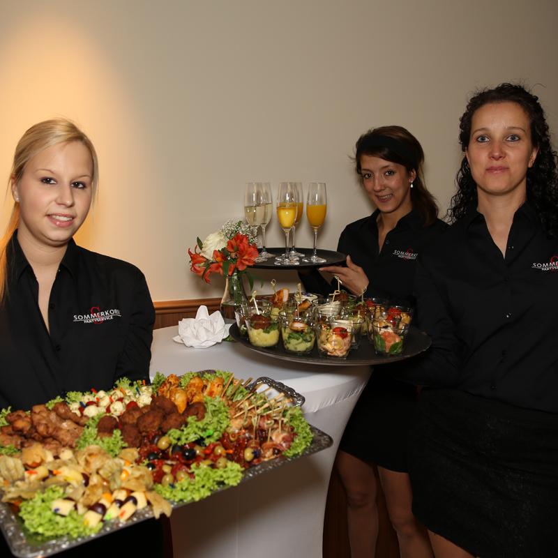 Palmenhaus München Service-Team Sektempfang