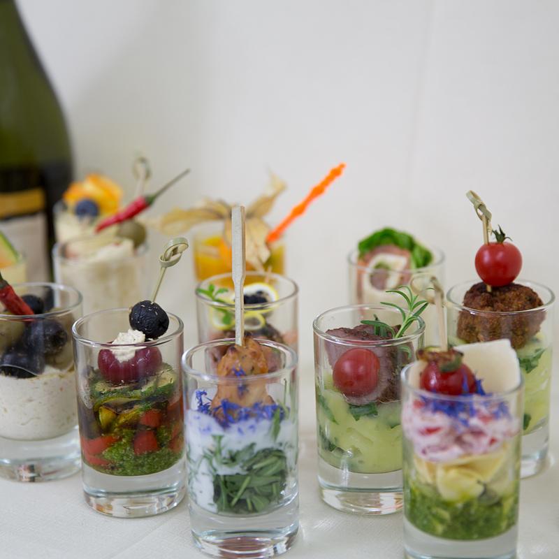 Palmenhaus München Variation Fingerfood im Glas